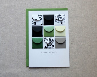 Happy Birthday Emerald - Tiny Envelopes Card