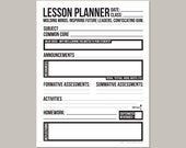 instant download: daily lesson planner for teachers