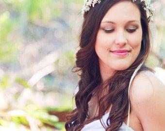 woodland crown, rustic wedding headpiece, berries flower crown, bridal hair accessory