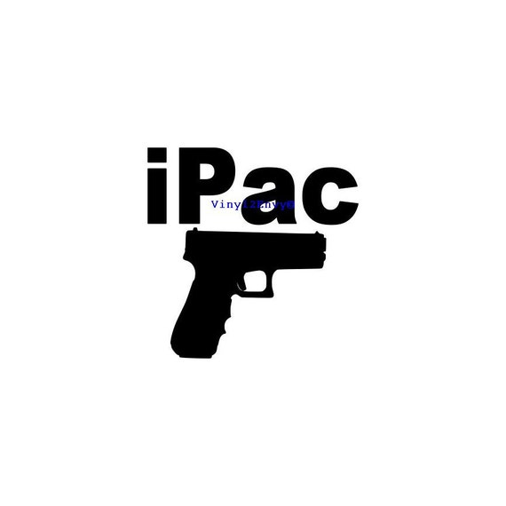 ipac gun car decal vinyl car decals vinyl car window decal