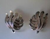 Vintage Trifari Silver Earrings