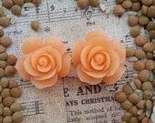 Flower Plugs Gauges Peach Roses