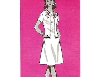 1970s Womens Dress - Vintage Pattern Anne Adams 4995 - Bust 36
