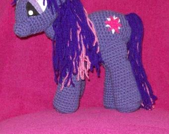 Twilight Sparkle Unicorn Toy Pony Stuffed Animal Toy Crochet Horse