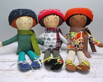 Paxton - Custom Made boy doll   boy rag doll  personalized gift   cloth doll  eco friendly