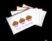 Cupcake first birthday kids cooking party favors gift ideas zipper bags zipper pencil case zipper pouch for kids girls