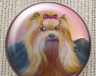 Yorkshire Terrier Necklace ~ Dog Art ~ Yorkie Portrait ~ Yorkie Necklace ~ Yorkie Painting ~ Gifts for her