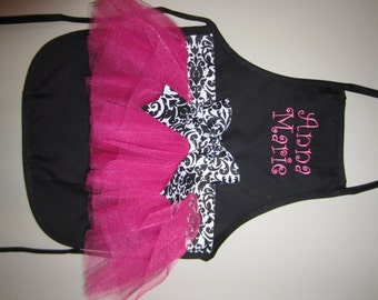 Kids Personalized Tutu Apron