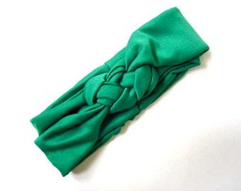 Sailor knot headband, nautical headband, Emerald