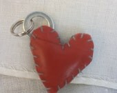 simple black & red sideloop heart