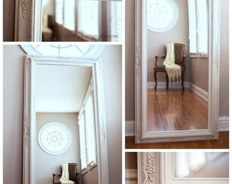 "SALON MIRRORS For Sale Large 56""x 32"" or 62""x32"" Baroque Decorative Mirror Hair Salon Mirror Long Leaning Mirror French Country Framed"