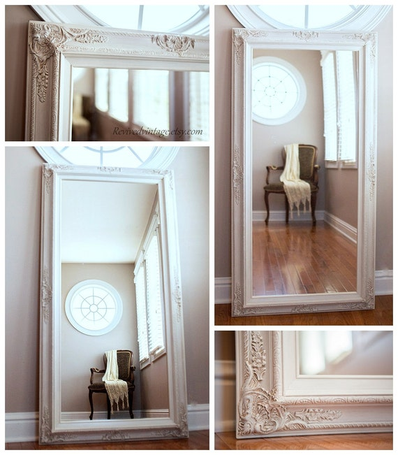 Salon mirrors for sale large 56x 32 baroque by revivedvintage for Big salon mirrors