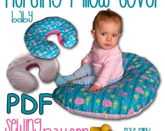 Mom and Baby Nursing Pillow Cover PDF Sewing Pattern