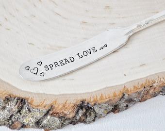 Spread Love - Vintage Hand Stamped Spreader