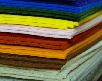 3mm Wool Sheets 20 x 30cm - Choose your own colours (option of 1 - 10 sheets)