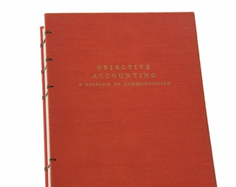 1969 OBJECTIVE ACCOUNTING Vintage Book Journal