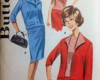 Vintage Sewing Pattern 1960s Mad Men Coordinates Skirt Blouse and Jacket Size 18