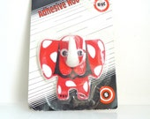 Red Elephant - Vintage Adhesive Hook - NOS - 1970s - Childs decor