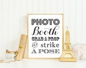 Photo Booth Prop Sign Printable Wedding New Years Eve INSTANT DOWNLOAD Photobooth 8x10 DIY