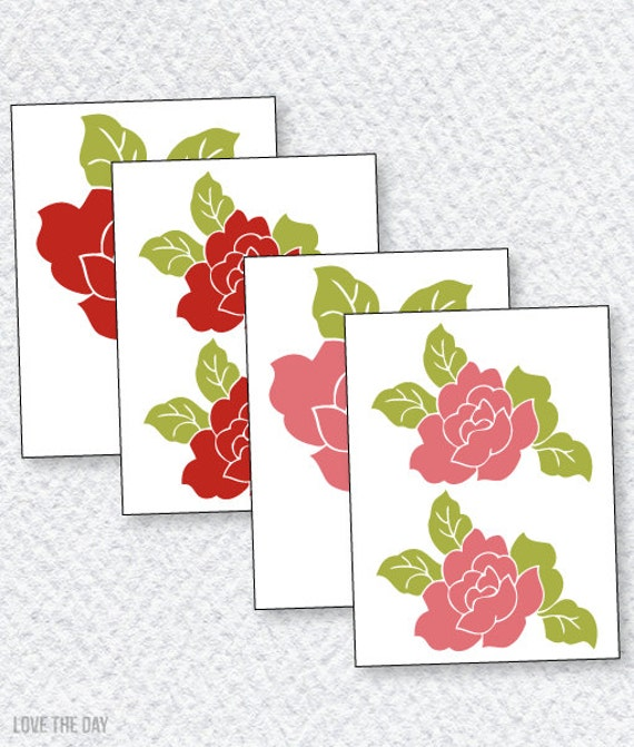 Rose Decals PRINTABLES for Butterfly Party by Love The Day