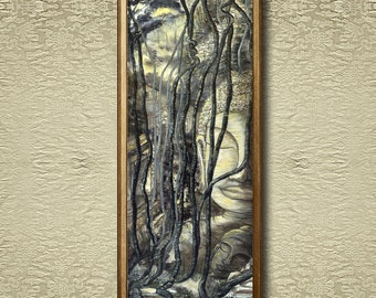Angkor's Relics - Fine Art Print on heavy Cotton Canvas - unframed