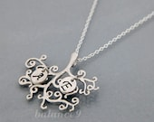 Family tree necklace, Initial tree necklace, Personalized letter, Tree of life jewelry, sterling silver chain, holidays gift, by balance9