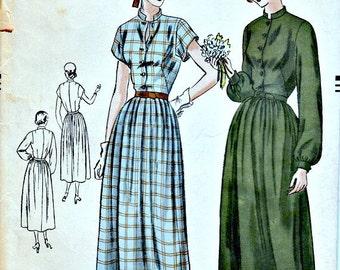 1940s Soft Feminine Day Dress Pattern VOGUE 6463  Bust 34