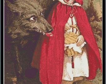 Little Red Riding Hood Cross Stitch Pattern