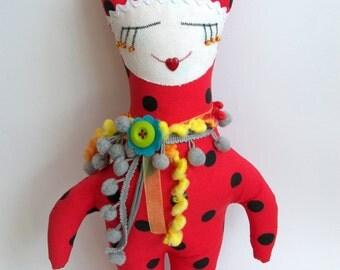 "Princess Soft Doll Red, 15"" high"