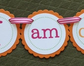 READY to SHIP Pumpkin Collection: High Chair Banner. I am ONE banner. Custom High Chair Decoration. First Birthday Banner. Fall Banner.