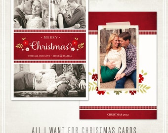 All I Want For Christmas Card - 3 Different Layouts