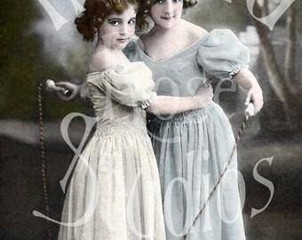 Sisters-Victorian/Edwardian Girls-Digital Image Download