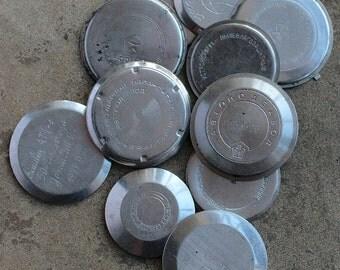 Vintage watch parts -- case back -- lid -- set of 11