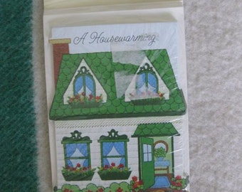 A Package of Eight Quilted Housewarming Invitation Cards by Hallmark