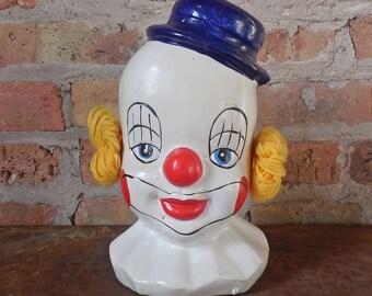 Ceramic Clown Head Bank