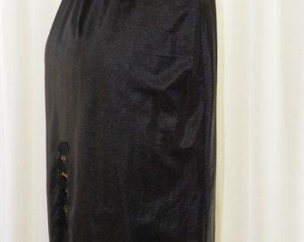 Vintage Decadent Skirt Slip Tulip Lace Hemline Back High Slit Beautifully Stored 28 Inch Waistline by Voila Vintage Lingerie