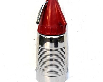 1950s Sparklet Red and Chrome Siphon, Vintage Soda Siphon, Atomic Age Barware, Mad Men Eames Era