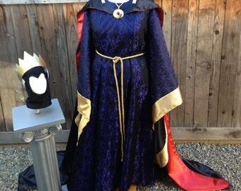 Evil Queen Snow White Villain Classic Park Version Dress Custom Made Adult