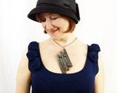 VALENTINE'S DAY SALE (Regular 75) - Geometric Jewelry Beaded Necklace Peyote Stitch Beaded Jewelry Bead Tube Jewelry