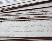 2 Antique hand written letters - Ink manuscript letter set