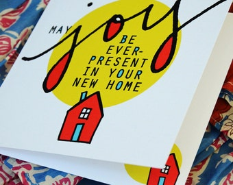 New Home Card: Joy in Your New Home Square Greeting Card