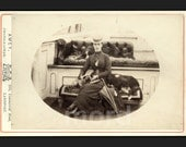 RARE Royalty Photo - Princess of Wales ( Queen Alexandra ) & Dogs on Royal Yacht