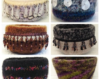 Crochet Wool Felted Bowls ePattern-PDF