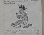 Black Americana, Sweet Potato AD, vintage Black Americana, Campaign ad, antique advertising