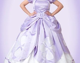 First Princess Ladies Costume - Custom Made Adult Sizes. Princess Costumes, Custom Made Costumes, Made to Fit, Adult Sofia Dress, Sophia