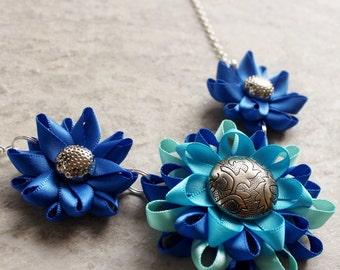 Royal Blue Necklace, Royal Blue Statement Necklace, Blue Statement Necklace, Sapphire Blue Necklace, Cobalt Blue Necklace