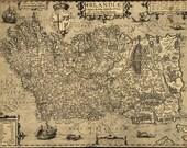 Antique Map of Ireland 1606