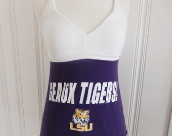 One of a Kind Gameday Shirt made w/ LSU Tshirt - XSmall - On Sale and Free Shipping