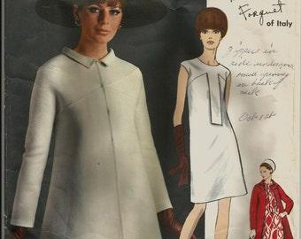 Classic 1960's Vintage VOGUE COUTURIER Designer Pattern 1826 Dress & Coat Federico Forquet CLASSIC 60s  . . . size 16 bust 36