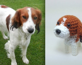 Custom Stuffed Animal Crochet Dog Plush Amigurumi Puppy / Made to Order